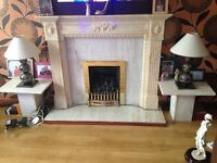 Fireplace, 2 tables and gas fire- Glasgow