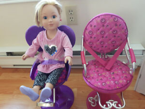My Life Salon chairs and doll
