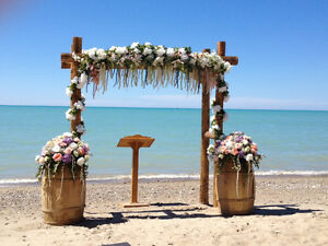 Beautiful wedding arbour