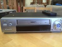 Aiwa vhs video recorder with remote