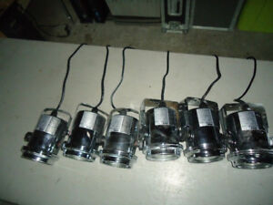 6 Pin lights for decor or uplights or pin light for mirror ball