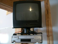 TV & VCR with wall mount