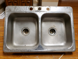 Kitchen double sink for only 20$