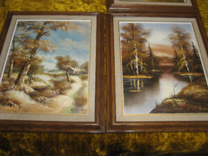 Landscape Wood-Framed Pictures