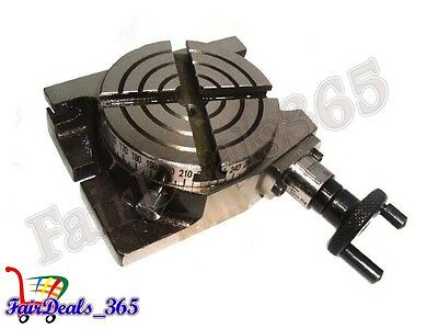 4 Inch Rotary Table Horizontal Vertical Use For Diy Machinists