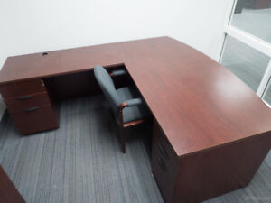 Excellent Bow Front I-Shape Workstation! Call Us Today!