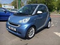 2012 Smart Fortwo 1.0 MHD Passion Cabriolet 2dr Petrol Softouch (100 g/km,