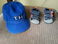 size 2 sandals/ Infant Tommy Hilfiger hat