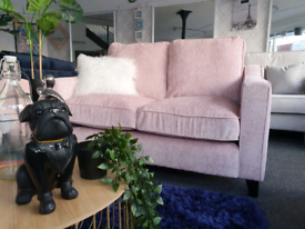 NEW Ruby Blush Pink 2 Seater Sofa DELIVERY AVAILABLE