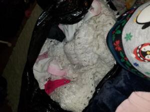 2 garbage bags of girls newborn