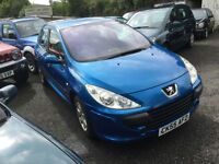 2005 (55) Peugeot 307 1.6 16v S 5 Door Miami Blue Metallic