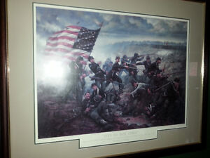 Framed limited edition US Civil War print