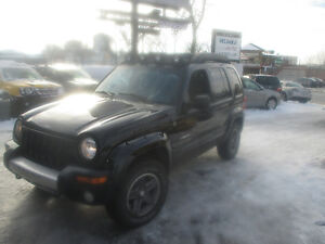 2004 Jeep Liberty Renegade LEATHER SAFETY+E-TEST+1 YEAR WARRANTY