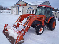 2007 Kubota L4240hst Tractor with Snow Blower and Plow