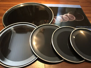 2 PLY EBONY DRUM HEADS WITH O RING (NEW)