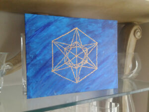 Metatrons cube painting