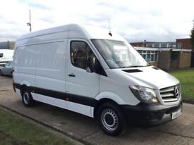 2015 65 MERCEDES-BENZ SPRINTER 2.1 313CDI MWB HIGH ROOF 129BHP NEW SHAPE. 1 OWNE