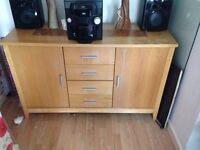 Oak sideboard £50.00 pick up Bootle and bush Hifi system with 5 disk changer and iPod dock £50.00