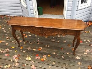 Solid carved wood console / sofa table DREXEL HERITAGE
