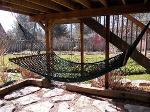 Soft Woven Polyester Rope Hammock. Double.