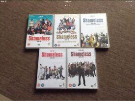 Shameless DVD's x5