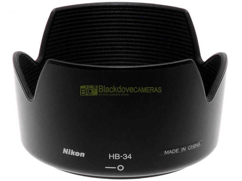 Nikon paraluce HB-34 x Nikkor AF-S zoom 55/200mm. f4-5,6 G, originale.