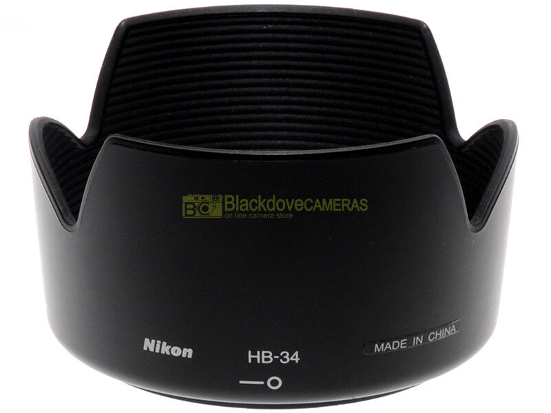 Nikon paraluce HB-34 per obiettivo Nikkor AF-S zoom 55/200mm f4-5,6 G, originale