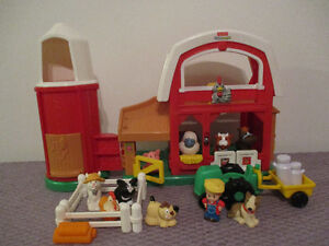 Ma  Ferme  Little  People  Sonore Complet 10 Figurines +Tracteur