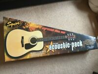 Fender Squier SA-100 Acoustic Guitar - Boxed Like New