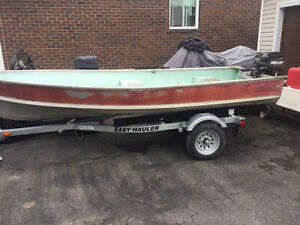 14ft aluminum boat with 15hp merc