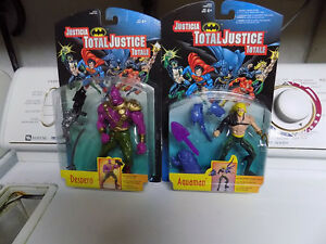 Total Justice Aquaman and Despero figures new in package