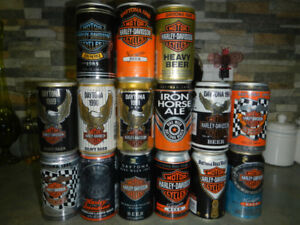 Harley Davidson can collection