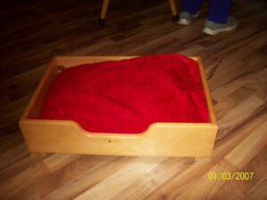 pine dog bed and wicker bed - medium size