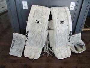 Reebok Premier XLT Pro Sr Goalie Pads & Gloves - Pads are 34'+1'