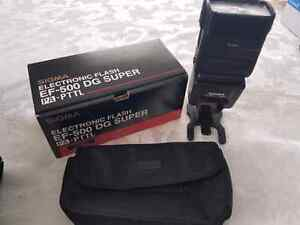 Sigma EF-500 DG SUPER flash pentax PTTL