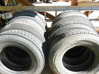 ( 8 )  11R22.5 tires michelin recaps, good shape
