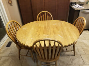 Solid Wood Kitchen Table/extra leaf, Couch,  and Chair