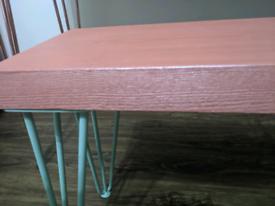 Hairpin legs table/desk & bench