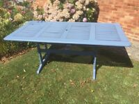 Large garden table wooden shabby chic. Can deliver.
