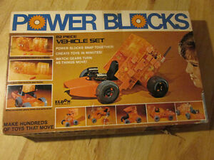 POWER BLOCKS Lego Eldon 1970 Japan Vintage Building Toy Vehicle