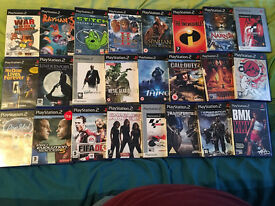24 Ps2 games most like new and most with manuals