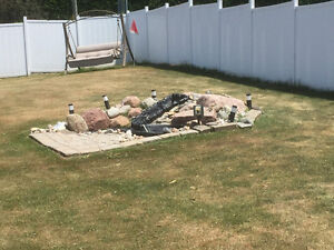 Cool outdoor pond with waterfall piece and fountain Peterborough Peterborough Area image 2