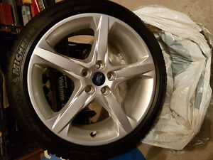 4 Michelin Pilot Sport Tires with Rims