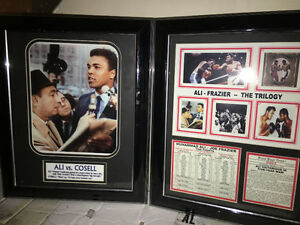 Muhammad Ali Framed Collectable Pictures