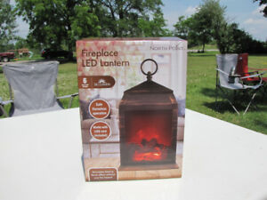 North Point FirePlace LED Lantern - NIB