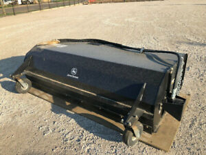 """84"""" skid steer sweeper attachment NEW with bin"""