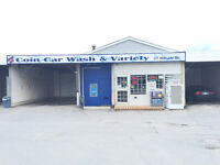Coin Car Wash + Convenience Store for Sale