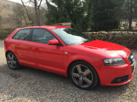 STUNNING AUDI A3 S LINE 2.0TDI (170PS) 3DR 3 DOOR FULL LEATHER 07