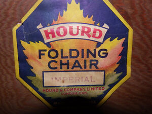 Set of 5 HOURD & Co. Ltd.London Can Wood Imperial Folding Chairs London Ontario image 2