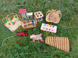 Collection of wooden children's toys